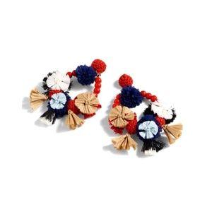J.Crew Flower Raffia Earrings